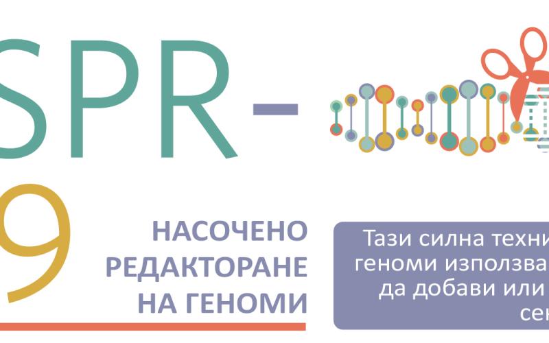 Как работи CRISPR-Cas9 (инфографика)