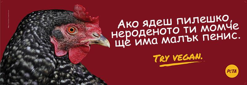 PETA: Aко ядете пилешко, детето ви ще има малък пенис