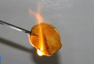 Защо чипсът гори толкова интензивно и като пластмаса?
